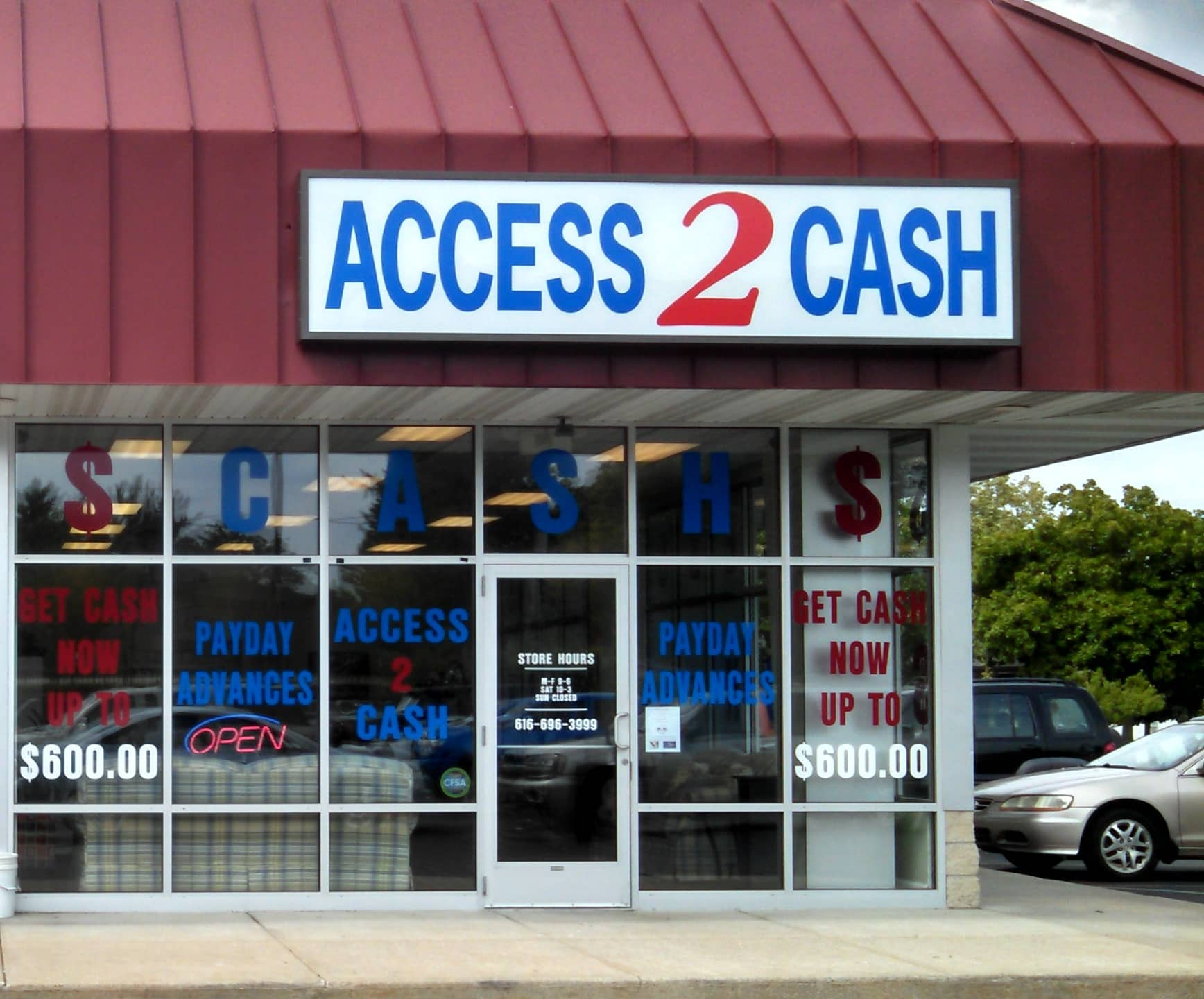 Access 2 Cash Cedar Springs -Outside